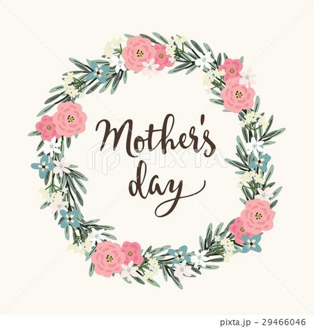 mothers day greeting card invitation brushのイラスト素材 29466046