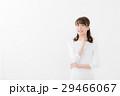 女性ポートレート 白バックイメージ 29466067
