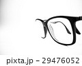 Glasses black and white close up. White background 29476052