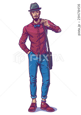 Vector illustration of a fashionable guy 29478456