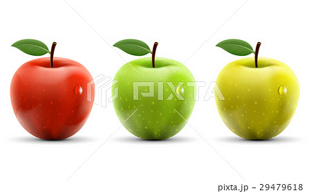 Set of red, yellow and green apples 29479618