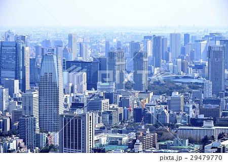 東京 都市風景 ビル群と住宅街 29479770
