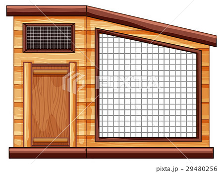Empty chicken coop on white background 29480256