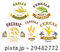 Cereal icon set with wheat, rye, oat and millet 29482772