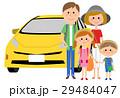 2世代家族 ファミリー 車のイラスト 29484047