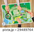 ベクトル 地図 旅行のイラスト 29489764