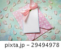 blank white greeting card and envelope with Petals 29494978