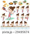 Mother and baby cooking 29495674