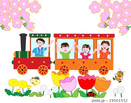 春に家族で鉄道の旅 29501552