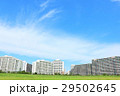 秋晴れの青空 新興住宅街のマンション 29502645