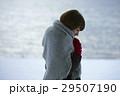 湖畔 冬 女性の写真 29507190