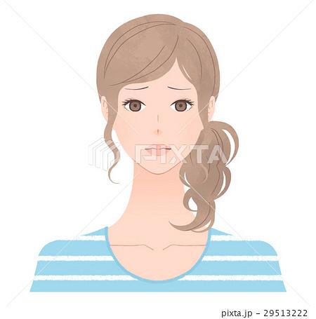 困り顔の女性 29513222