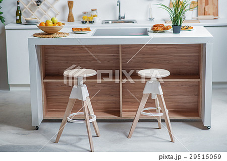 Cozy domestic kitchen with comfortable furnitureの写真素材 [29516069] - PIXTA