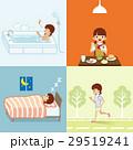 女子高生 生活習慣 健康のイラスト 29519241