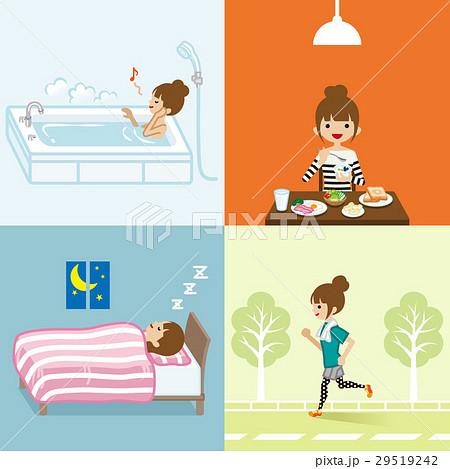 健康的な生活習慣 若い女性 29519242