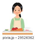 女性 人物 料理のイラスト 29526362