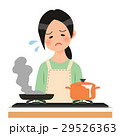 料理に失敗して落ち込む女性 29526363