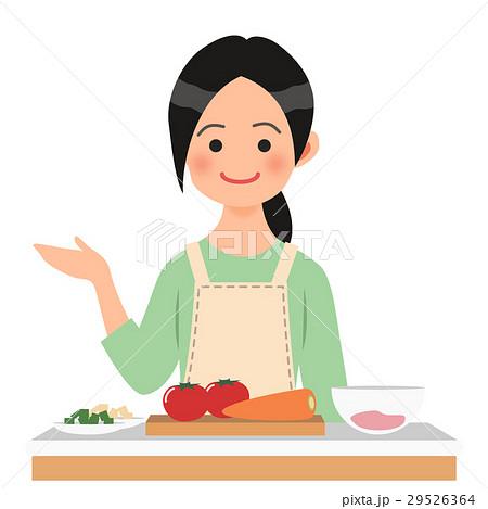 キッチンで案内する女性 29526364