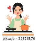 女性 人物 料理のイラスト 29526370