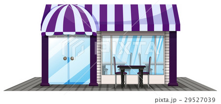 Coffee shop design with purple roofのイラスト素材 [29527039] - PIXTA