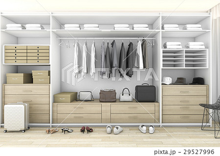 minimal wood walk in closet with wardrobe 29527996