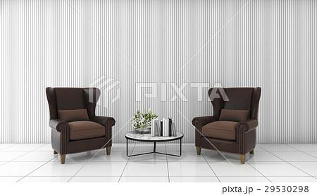 beautiful leather sofa in white minimal room 29530298