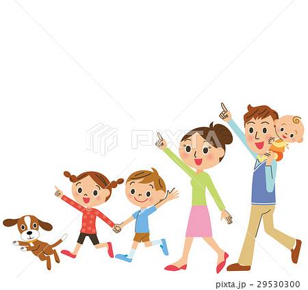 仲良し家族が歩く 29530300
