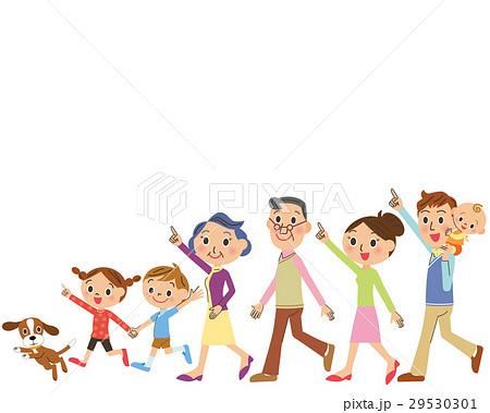 仲良し三世代家族が歩く 29530301