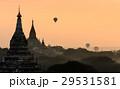バガン ミャンマー 朝焼けの写真 29531581