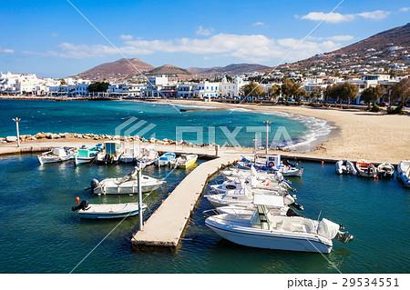 Boats in Paros port 29534551