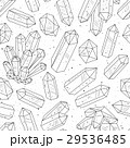 Gems, crystals black and white pattern vector 29536485