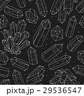 Gems, crystals black and white pattern vector 29536547