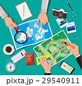 ベクトル 地図 旅行のイラスト 29540911