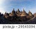 Top Borobudur Temple at sunrise. Yogyakarta, Java 29545094