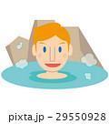 かわいい金髪外国人 男性 温泉に入る 29550928