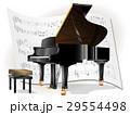 鍵盤楽器 グランドピアノ ピアノのイラスト 29554498
