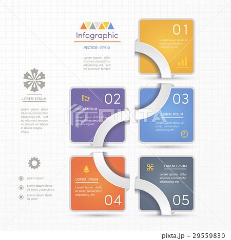 infographics design template with iconsのイラスト素材 29559830 pixta