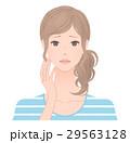 女性 困り顔 戸惑うのイラスト 29563128