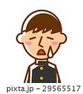上半身 泣く 学生のイラスト 29565517