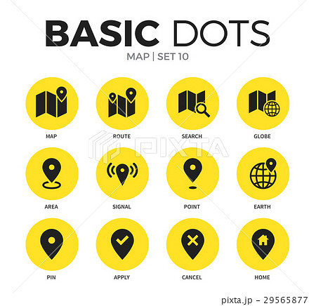 Map flat icons vector set 29565877