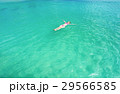 Woman floating on a back in the beautiful sea 29566585