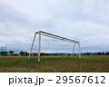 Close up of lawn grass at back of the soccer goal  29567612