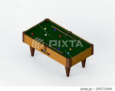 Billiard table.Isolated on white background. のイラスト素材 [29573484] - PIXTA