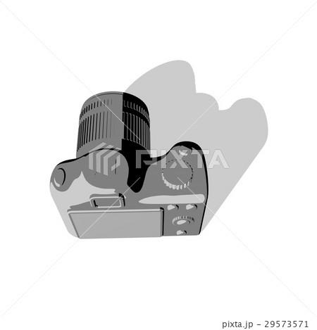 Photo camera. Isolated on white background. のイラスト素材 [29573571] - PIXTA