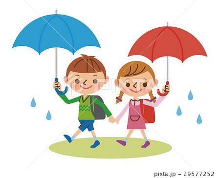 雨の通学路 29577252