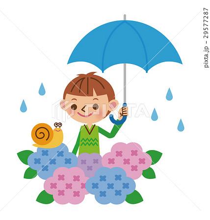 梅雨と男の子 29577287