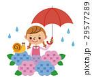 子供 ベクター 梅雨のイラスト 29577289