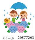 子供 ベクター 梅雨のイラスト 29577293