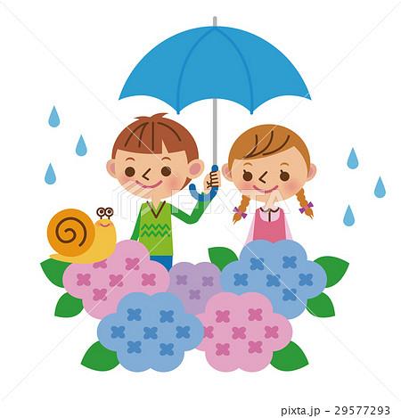 梅雨と子供たち(バストアップ) 29577293
