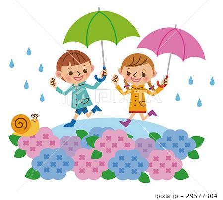 梅雨と子供たち(全身) 29577304